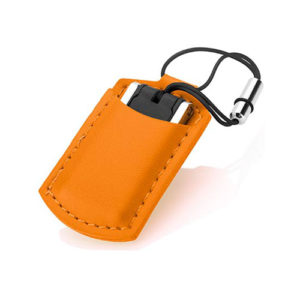 usb with leather pouch