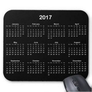 Gallery Calendar Mouse Pad