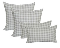 checked pillow