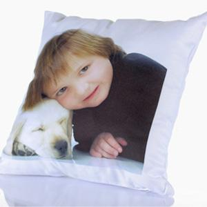 plain square pillow with photo